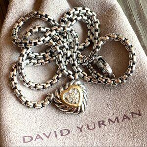 David Yurman Jewelry - David Yurman Diamond & 18K Gold Heart Necklace